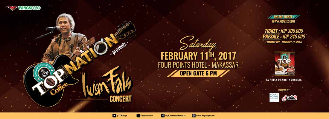 Top Nation Konser Iwan Fals  & Band di Makassar