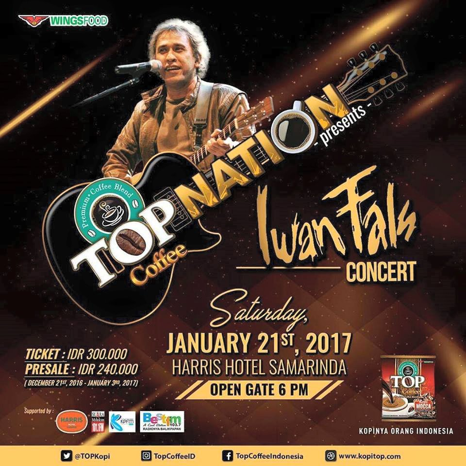 Top Nation Konser Iwan Fals  & Band di Samarinda
