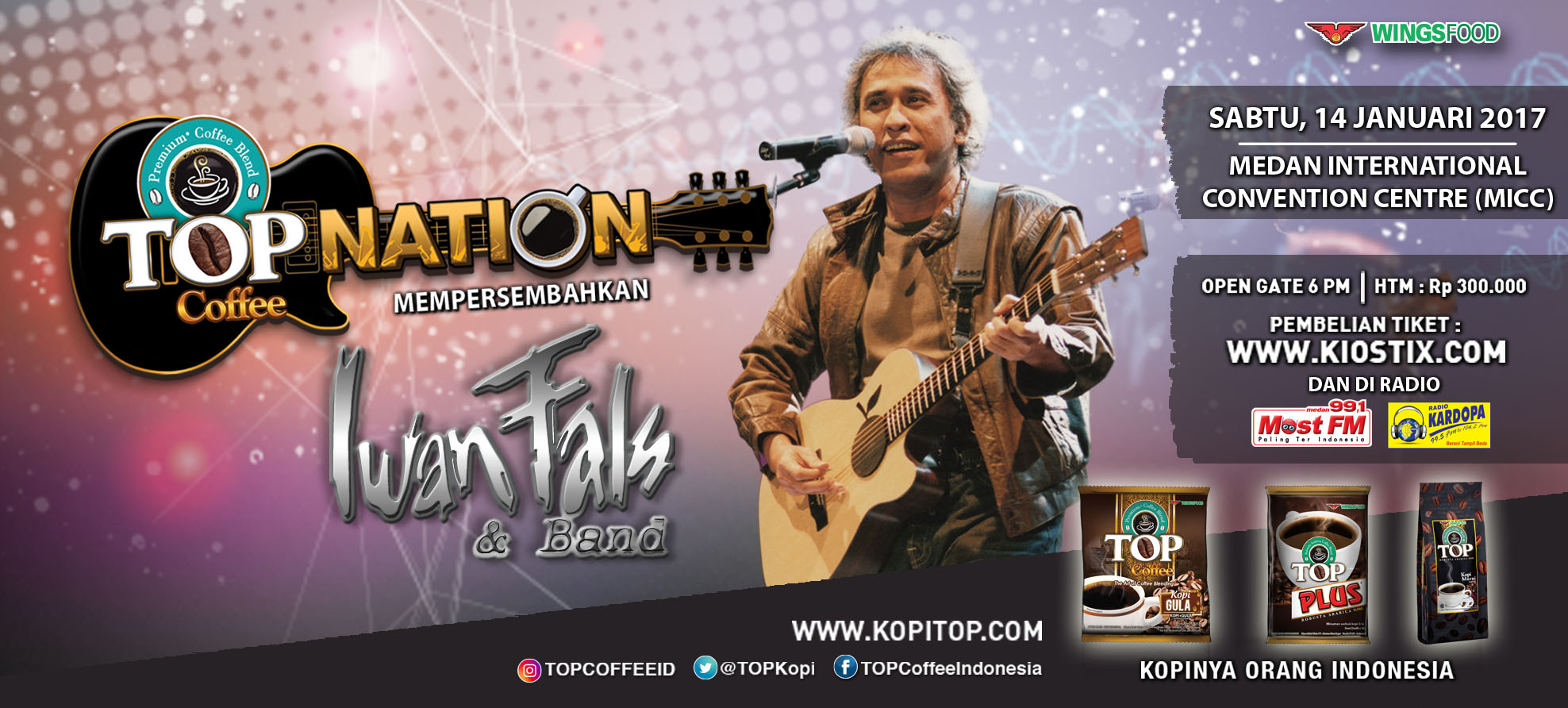 Top Nation Konser Iwan Fals  & Band di Medan
